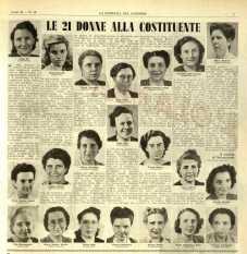 Le donne presenti all'assemblea costituente
