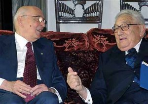 Kissinger & Napolitano (foto quirinale.it