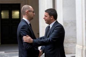 Yatsenyuk e Renzi