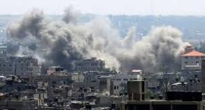 Borbardamento su Gaza