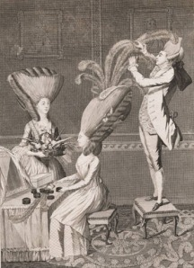 parrucchiere nel XVIII secolo