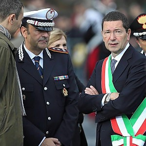 Marino col comandante dei vigili