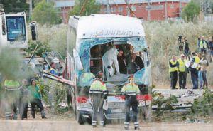 Spagna, si schianta bus di studenti anche i erasmus a Tarragona