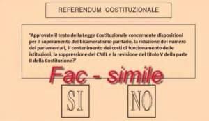 Scheda referendum: colpo di mano del regime
