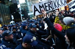 proteste contro trump