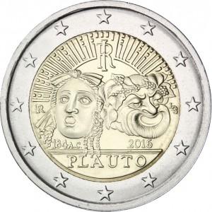 2_euro_commemorativo_Italia_2016_Plauto