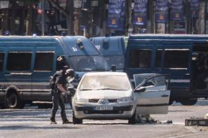 Police operation underway on Champs Elysees Avenue
