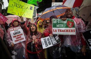 Los Angeles Teachers Go On Strike