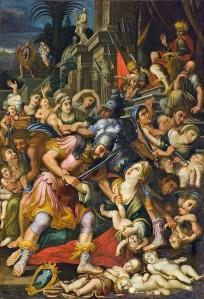 Sicilia Acireale Cattedrale. Tela del Ragonisi. La strage degli innocenti.